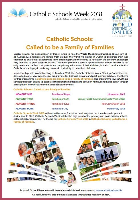 Catholic Scholls Week 2018 Informaton Flyer